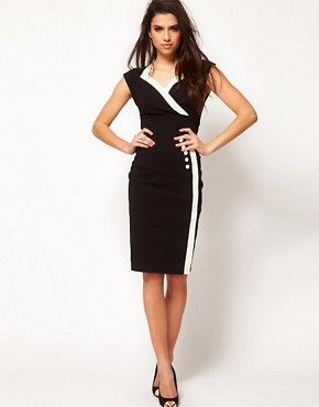 Image 4 ofHybrid Button Side Vintage Pencil Dress