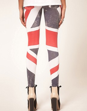 Image 2 ofReligion Union Jack Leggings