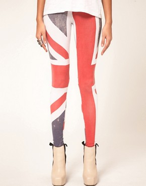 Image 4 ofReligion Union Jack Leggings