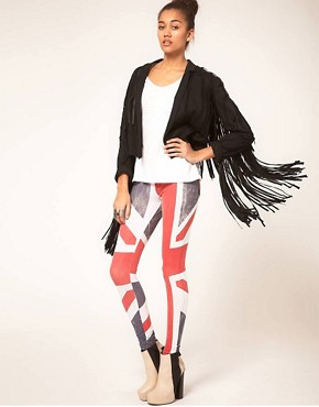 Image 1 ofReligion Union Jack Leggings