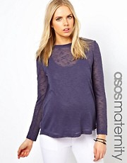 ASOS Maternity Exclusive Sweater with Slit Back