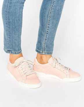 Reebok Npc Ii Trainers In Tonal Pink Leather