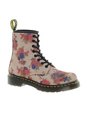 Dr Martens - Castel - Anfibi floreali con 8 paia di occhielli