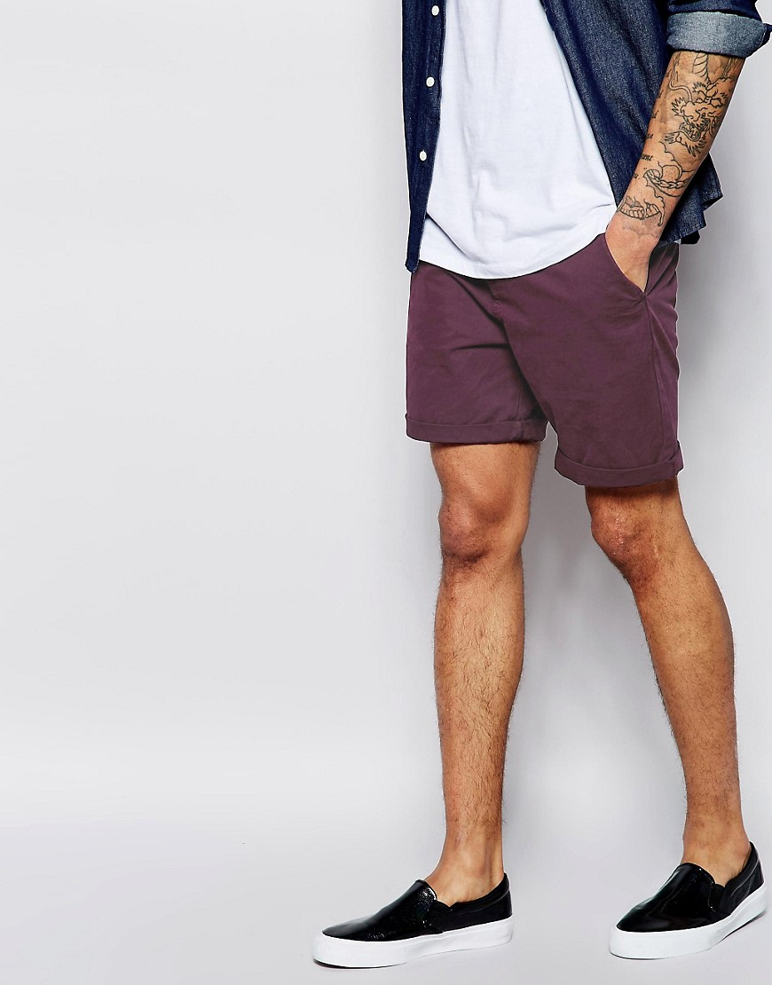 Image 1 of ASOS Chino Shorts In Mid Length
