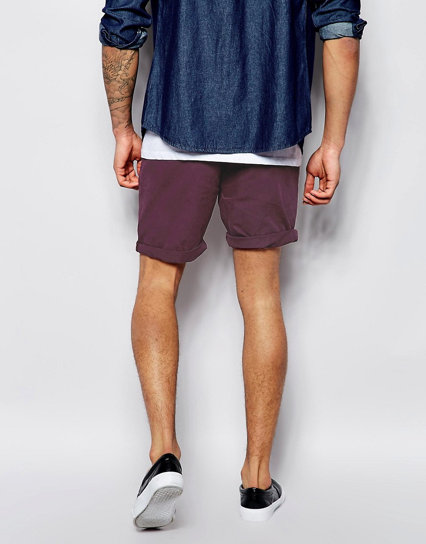 Image 2 of ASOS Chino Shorts In Mid Length