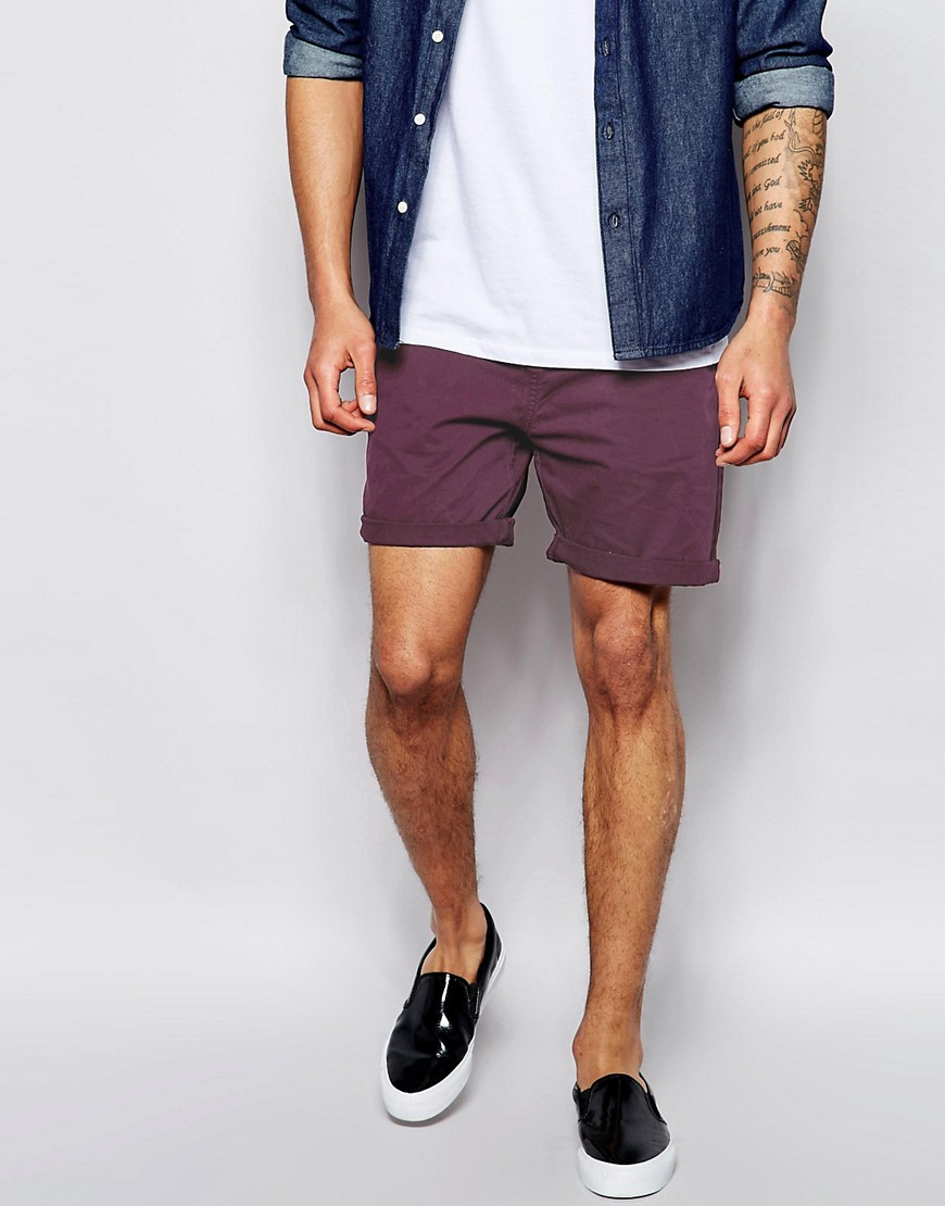 Image 4 of ASOS Chino Shorts In Mid Length