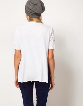 Image 2 ofASOS Side Split T-Shirt