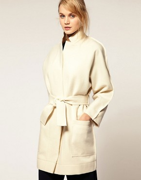 Image 1 ofCacharel Wool Coat With Belt