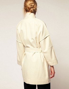 Image 2 ofCacharel Wool Coat With Belt