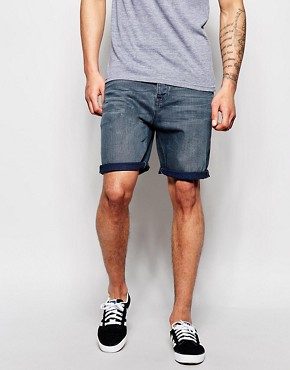 ASOS Denim Shorts In Slim Fit Mid Length