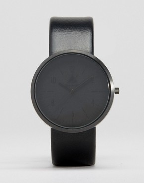 ASOS Monochrome Watch In Black