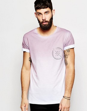 River Island Faded Print Crew Neck T-shirt