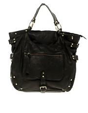 Urban Code Leather Slouch Bag with Front Pocket