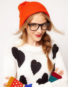 Image 1 ofASOS Rib Boyfriend Knit Beanie
