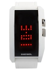 Diesel - Orologio digitale bianco