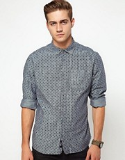 Diesel - Sermon - Camicia in chambray con stampa cachemire