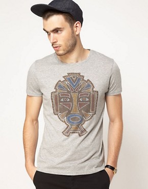 Image 1 ofASOS T-Shirt With Mask Print