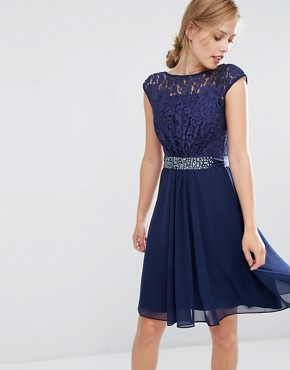 Coast Lori Lee Lace Short Dress