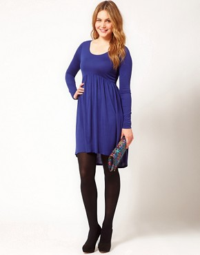 Image 4 ofASOS CURVE Dress With High Low Hem