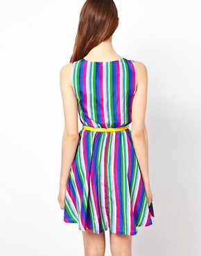 Image 2 ofYumi Striped Dress With Belt