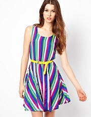 Yumi Striped Dress With Belt