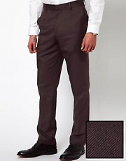 ASOS Slim Fit Smart Trousers in Herringbone