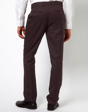 Image 2 ofASOS Slim Fit Smart Trousers in Herringbone