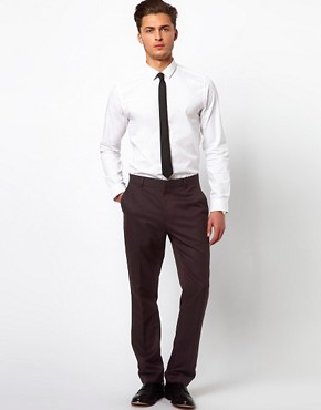 Image 4 ofASOS Slim Fit Smart Trousers in Herringbone