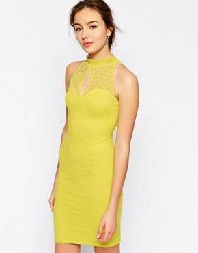 Jessica Wright Lilly High Neck Lace Dress