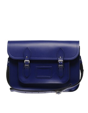 Image 1 ofCambridge Satchel Company Exclusive To ASOS 14&quot; Leather Plum Satchel