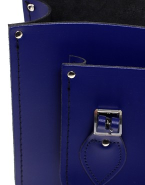 Image 2 ofCambridge Satchel Company Exclusive To ASOS 14&quot; Leather Plum Satchel