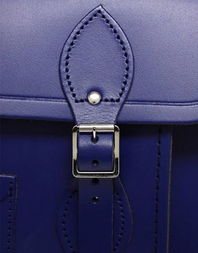 Image 4 ofCambridge Satchel Company Exclusive To ASOS 14&quot; Leather Plum Satchel