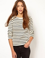 Whistles Edie Stripe Top