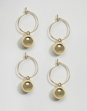ASOS Pack of 2 Ball Hoops