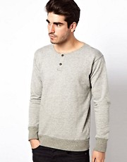 Lee 101 Sweatshirt Henley Grandad