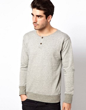 Image 1 ofLee 101 Sweatshirt Henley Grandad