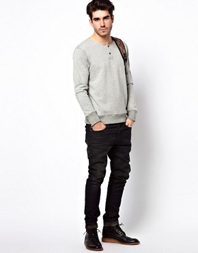 Image 4 ofLee 101 Sweatshirt Henley Grandad