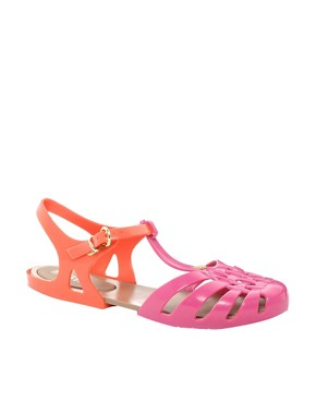 Image 1 ofMelissa Aranha Hits Tbar Flat Sandals