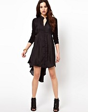 Religion Button Down Dress In Silk