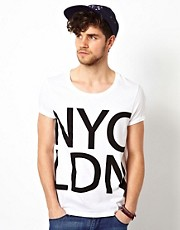 ASOS  T-Shirt mit NYC LDN-Aufdruck