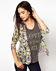 Oh My Love Floral Print Kimono Top