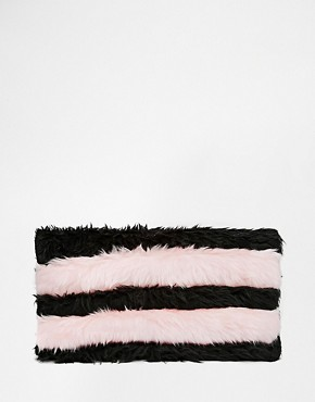 The Ragged Priest Faux Fur Striped Clutch