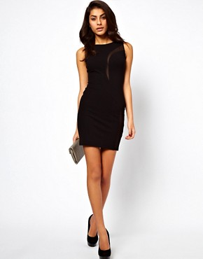 Image 4 ofASOS Mini Dress With Sheer Detail