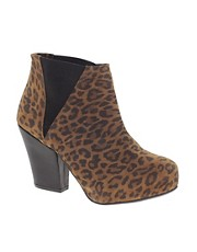 River Island Block Heeled Ankle Boots