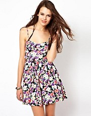 Minkpink Lollie Floral Tie Back Dress