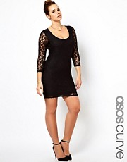 ASOS CURVE Mini Dress In Lace