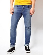 J Lindeberg Skinny Jean In Bleach Denim