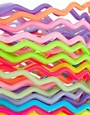 Image 3 ofASOS Pack of Zig Zag Gummy Bracelets