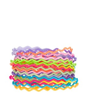 Image 1 ofASOS Pack of Zig Zag Gummy Bracelets
