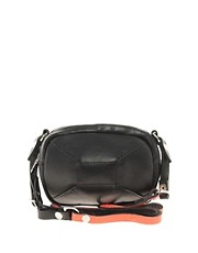 Jas MB Leather Photo Bag With Neon Trim
